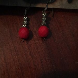 Hand made jewelry! Red stone and silver pieces!